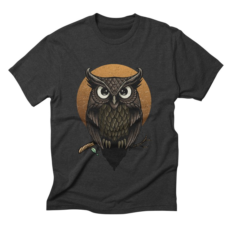 Owl-Fullmoon Men's Triblend T-shirt by angoes25's Artist Shop