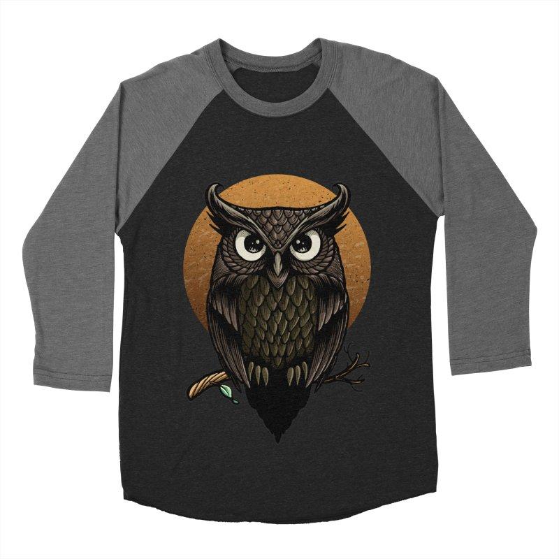 Owl-Fullmoon Women's Baseball Triblend T-Shirt by angoes25's Artist Shop
