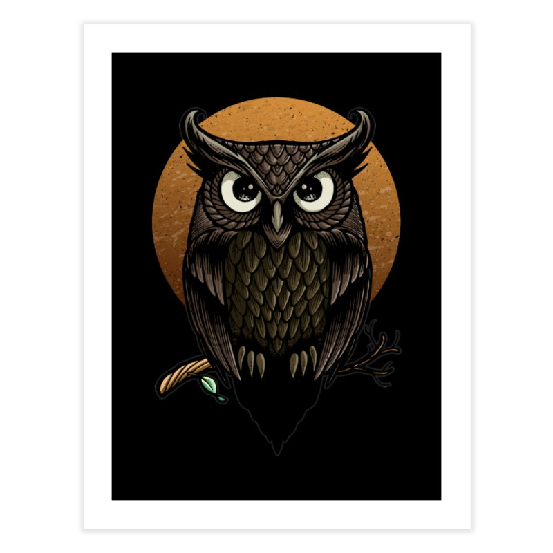 Owl-Fullmoon Home Fine Art Print by angoes25's Artist Shop