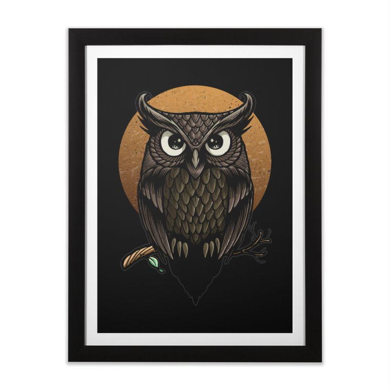 Owl-Fullmoon Home Framed Fine Art Print by angoes25's Artist Shop