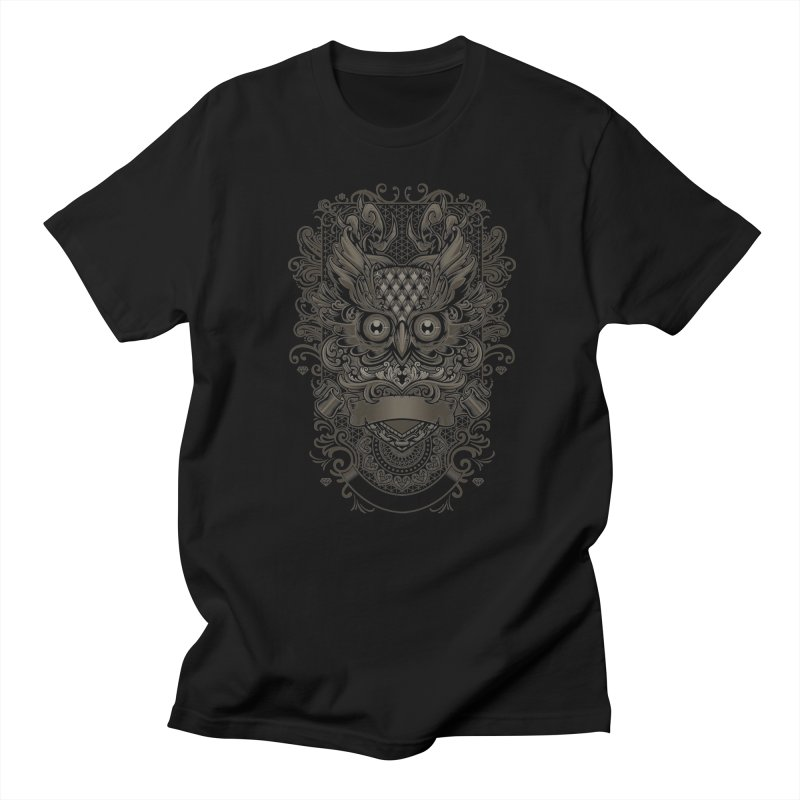 Owl ornate Men's T-Shirt by angoes25's Artist Shop