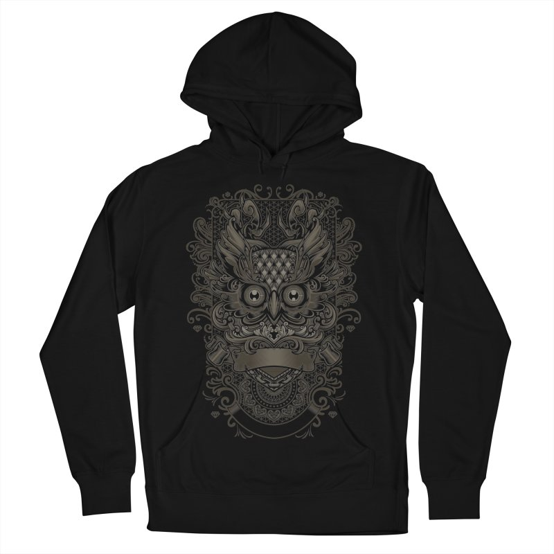 Owl ornate Men's French Terry Pullover Hoody by angoes25's Artist Shop