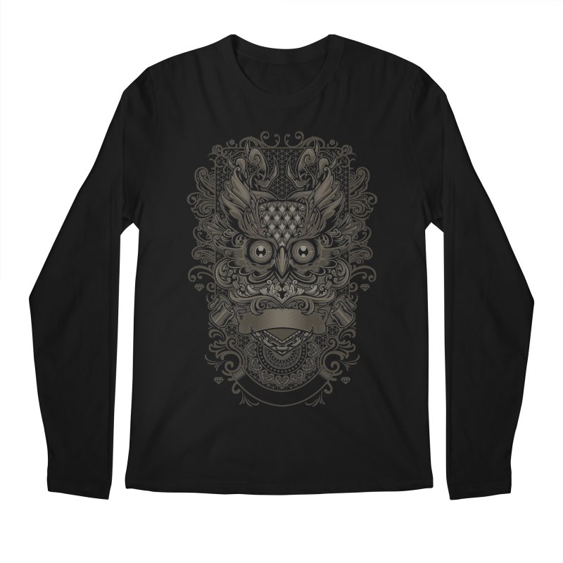 Owl ornate Men's Longsleeve T-Shirt by angoes25's Artist Shop