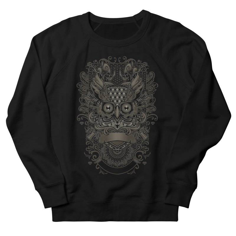 Owl ornate Men's French Terry Sweatshirt by angoes25's Artist Shop