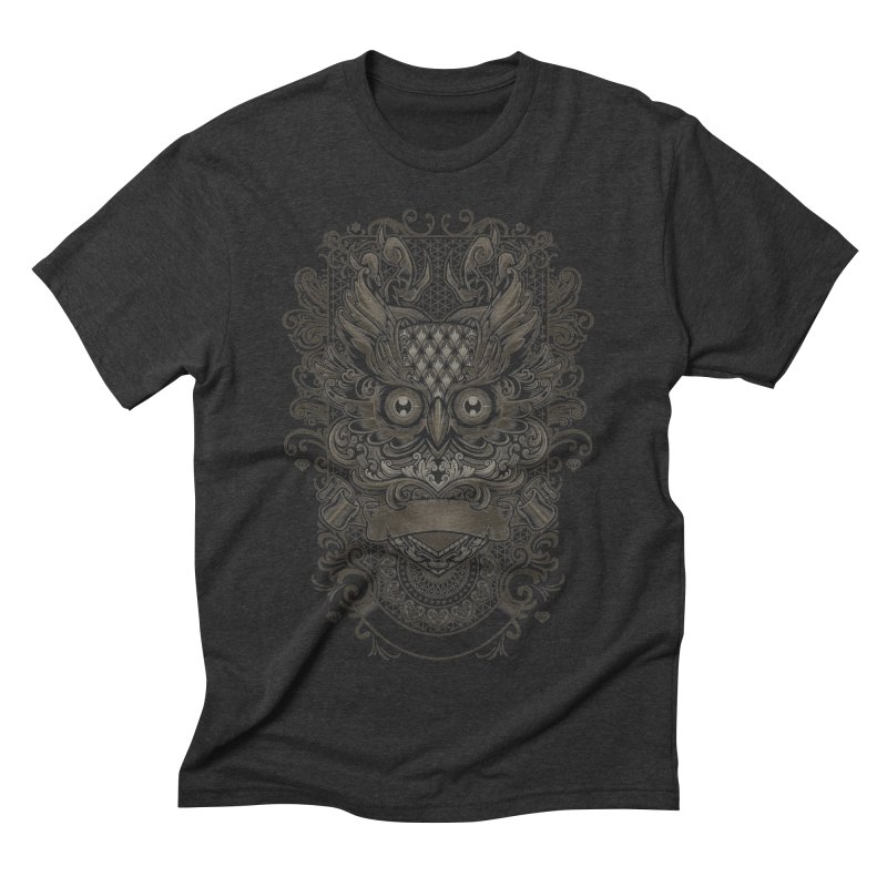 Owl ornate Men's Triblend T-Shirt by angoes25's Artist Shop