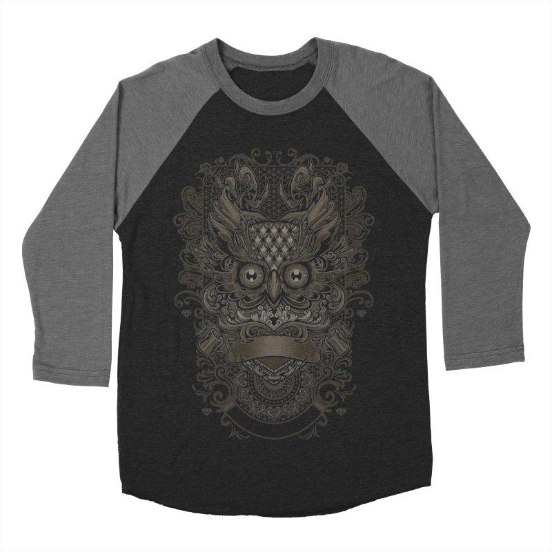 Owl ornate Women's Baseball Triblend T-Shirt by angoes25's Artist Shop