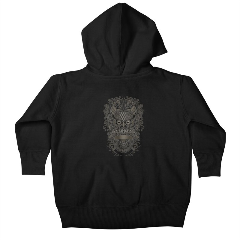 Owl ornate Kids Baby Zip-Up Hoody by angoes25's Artist Shop