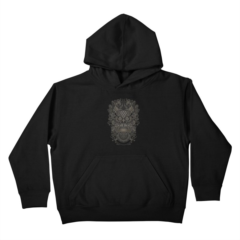 Owl ornate Kids Pullover Hoody by angoes25's Artist Shop