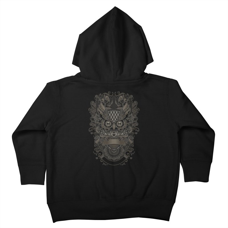 Owl ornate Kids Toddler Zip-Up Hoody by angoes25's Artist Shop