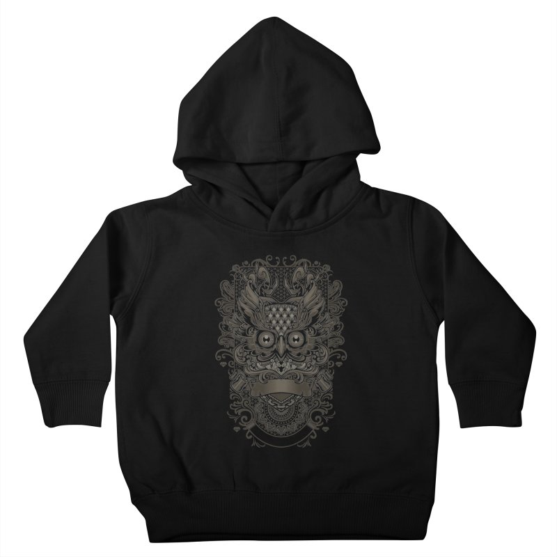 Owl ornate Kids Toddler Pullover Hoody by angoes25's Artist Shop