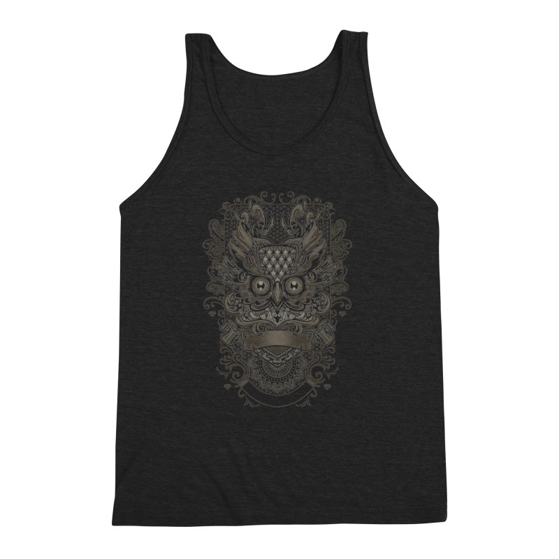 Owl ornate Men's Triblend Tank by angoes25's Artist Shop