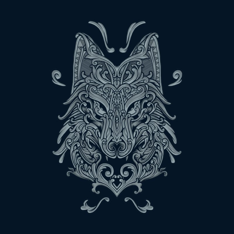 Ornate Wolf None  by angoes25's Artist Shop