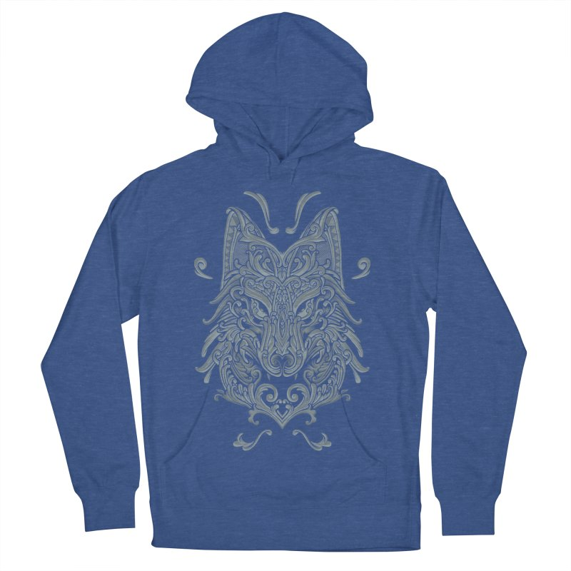 Ornate Wolf Women's French Terry Pullover Hoody by angoes25's Artist Shop