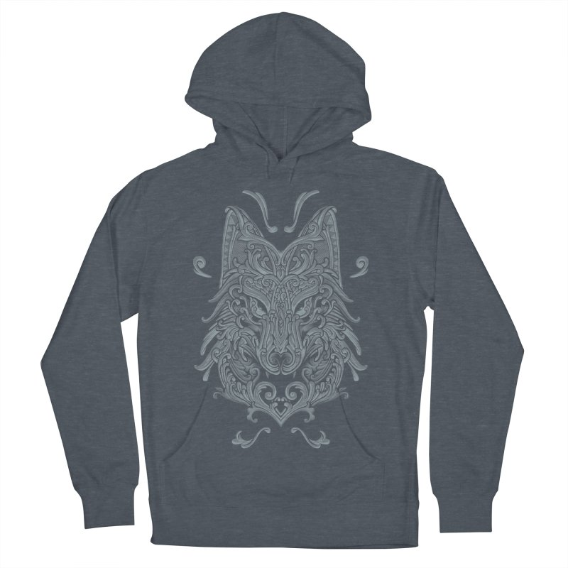 Ornate Wolf Women's Pullover Hoody by angoes25's Artist Shop