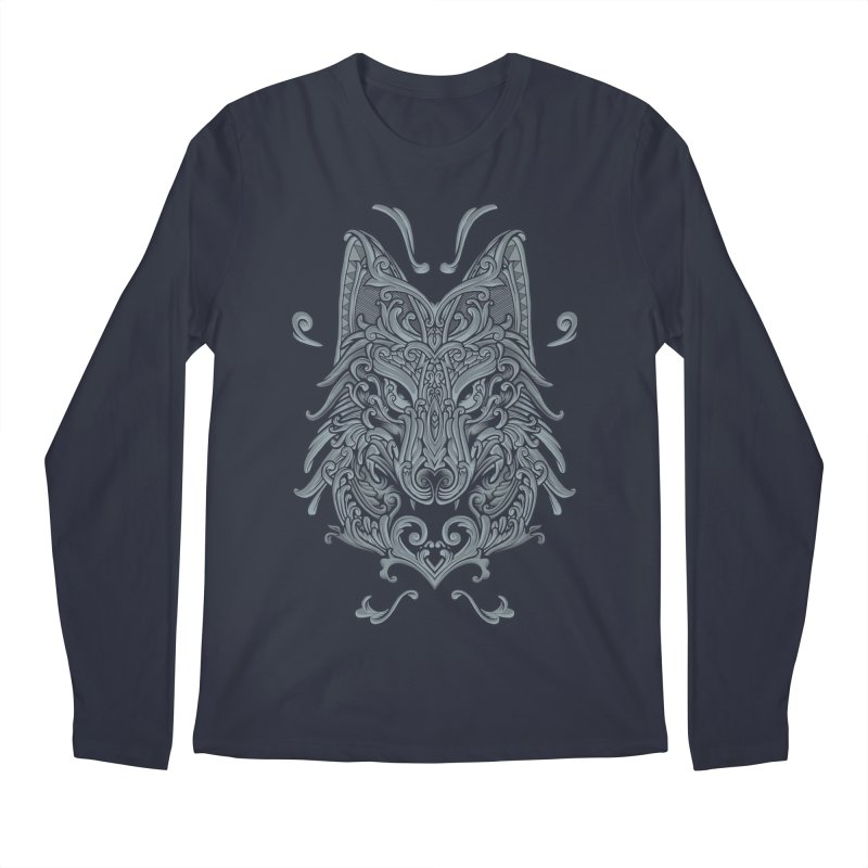 Ornate Wolf Men's Longsleeve T-Shirt by angoes25's Artist Shop
