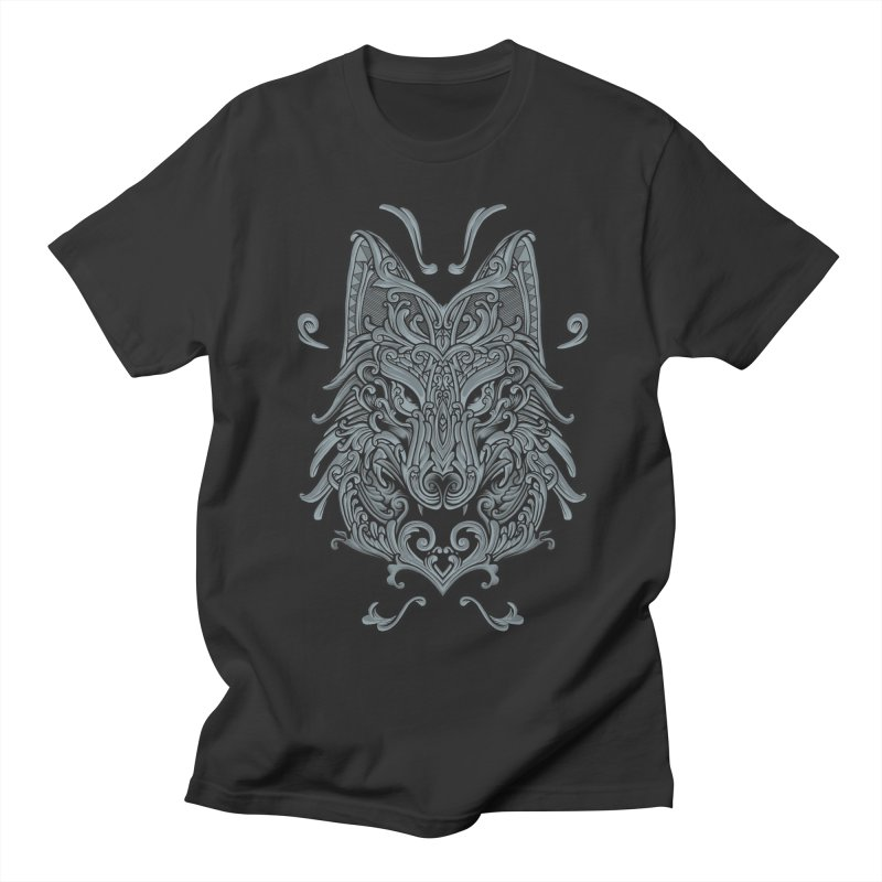 Ornate Wolf Men's T-Shirt by angoes25's Artist Shop