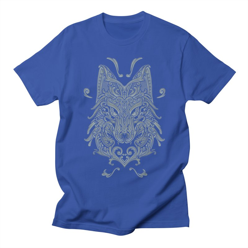 Ornate Wolf Men's Regular T-Shirt by angoes25's Artist Shop