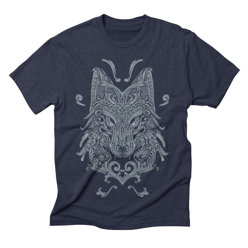 Ornate Wolf Men's Triblend T-shirt by angoes25's Artist Shop