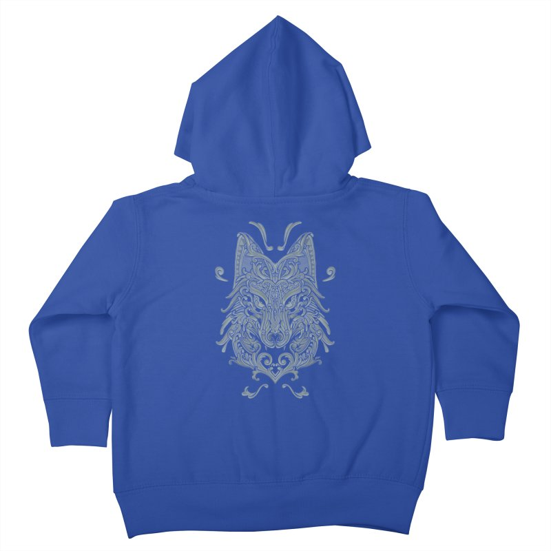 Ornate Wolf Kids Toddler Zip-Up Hoody by angoes25's Artist Shop