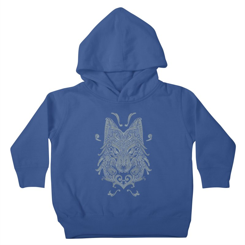 Ornate Wolf Kids Toddler Pullover Hoody by angoes25's Artist Shop