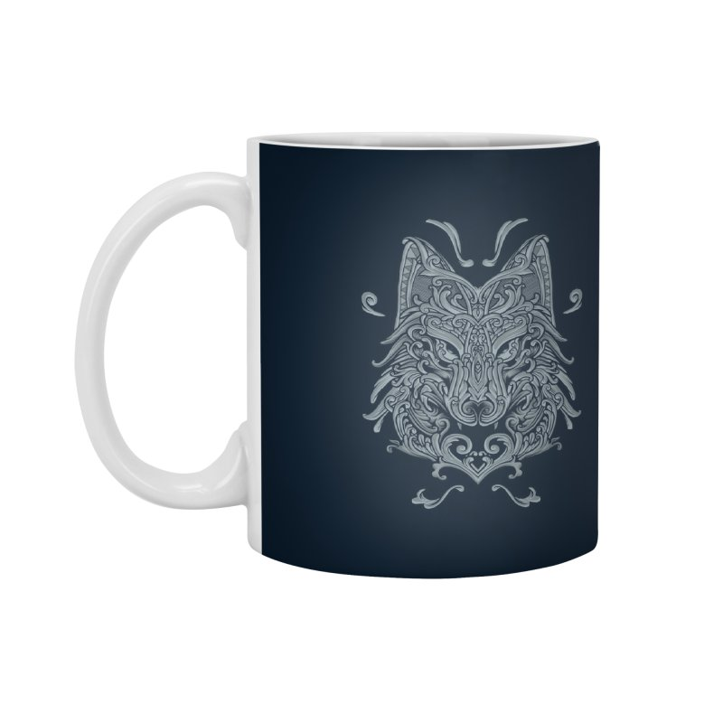 Ornate Wolf Accessories Mug by angoes25's Artist Shop
