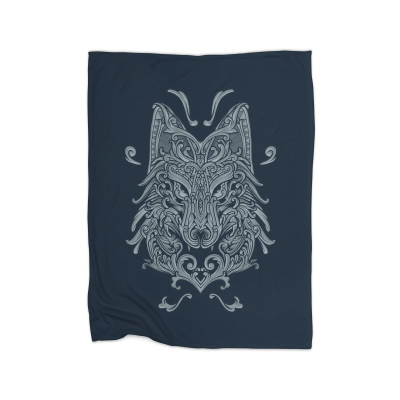 Ornate Wolf Home Blanket by angoes25's Artist Shop