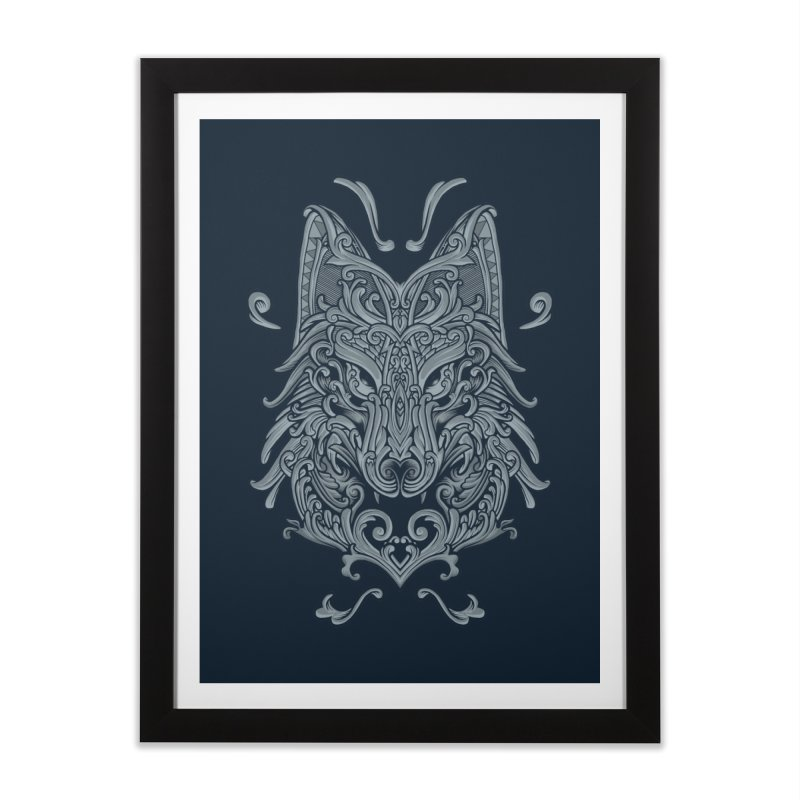 Ornate Wolf Home Framed Fine Art Print by angoes25's Artist Shop