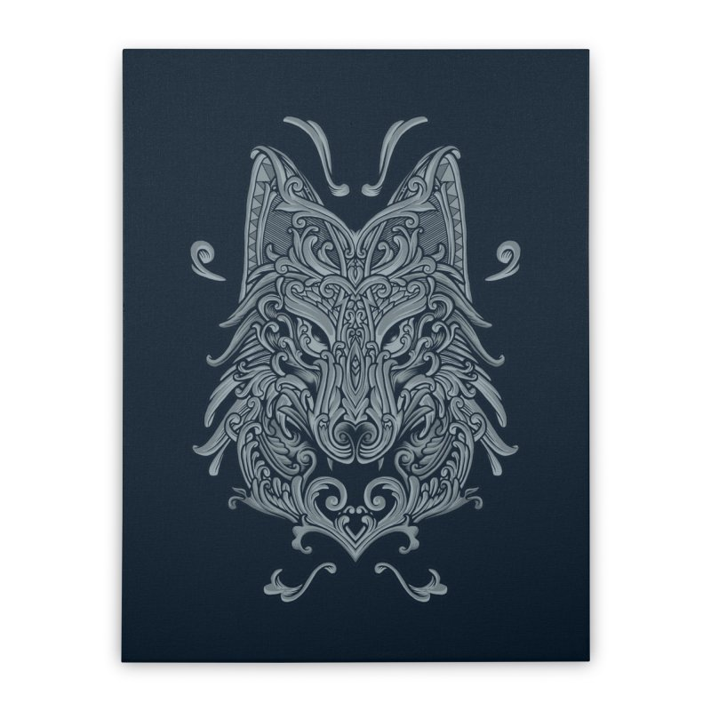 Ornate Wolf Home Stretched Canvas by angoes25's Artist Shop