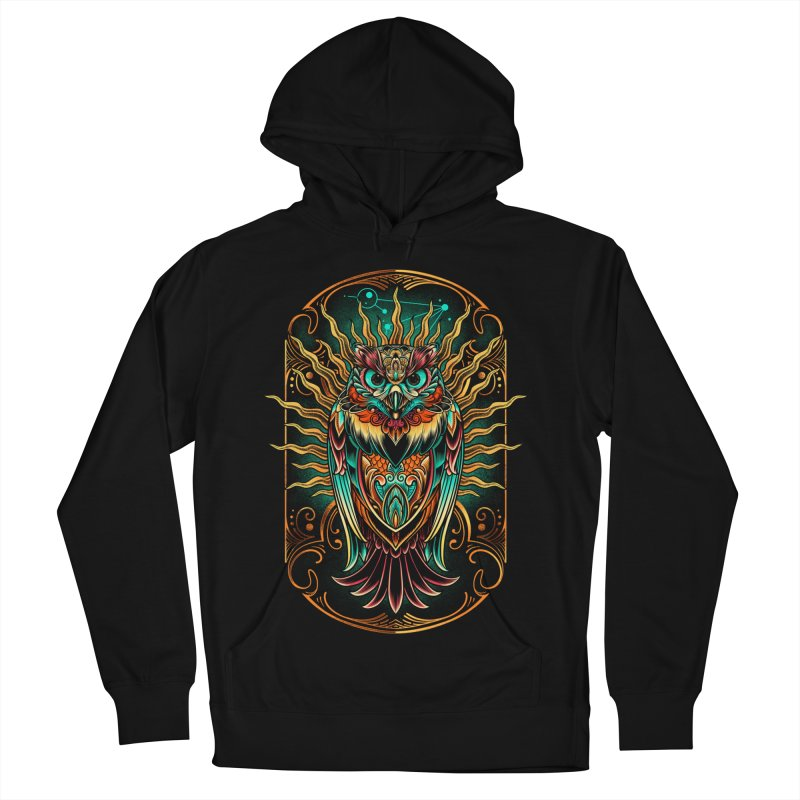 Owl - soulkeeper Men's French Terry Pullover Hoody by angoes25's Artist Shop
