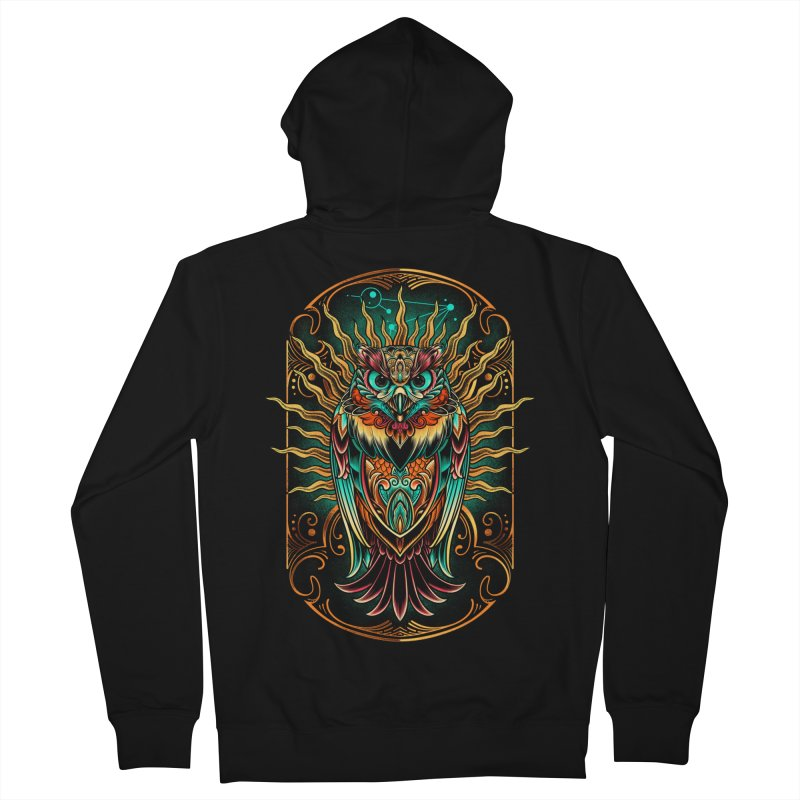 Owl - soulkeeper Men's French Terry Zip-Up Hoody by angoes25's Artist Shop