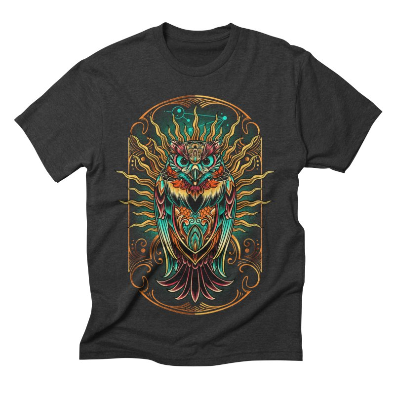 Owl - soulkeeper Men's Triblend T-shirt by angoes25's Artist Shop