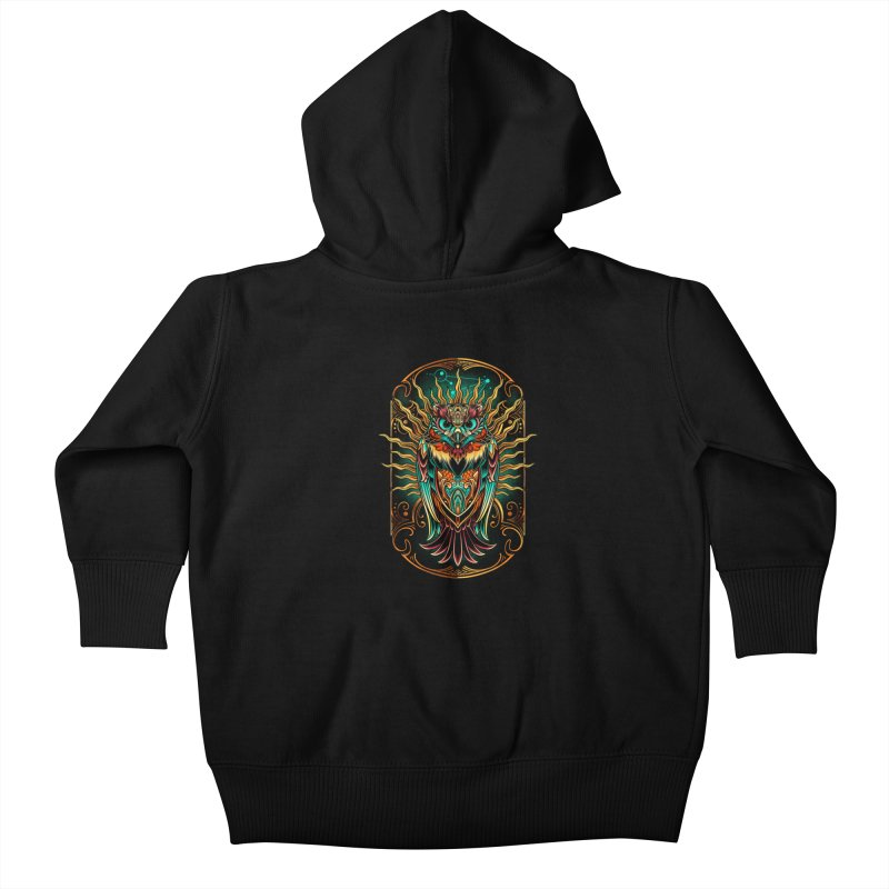 Owl - soulkeeper Kids Baby Zip-Up Hoody by angoes25's Artist Shop