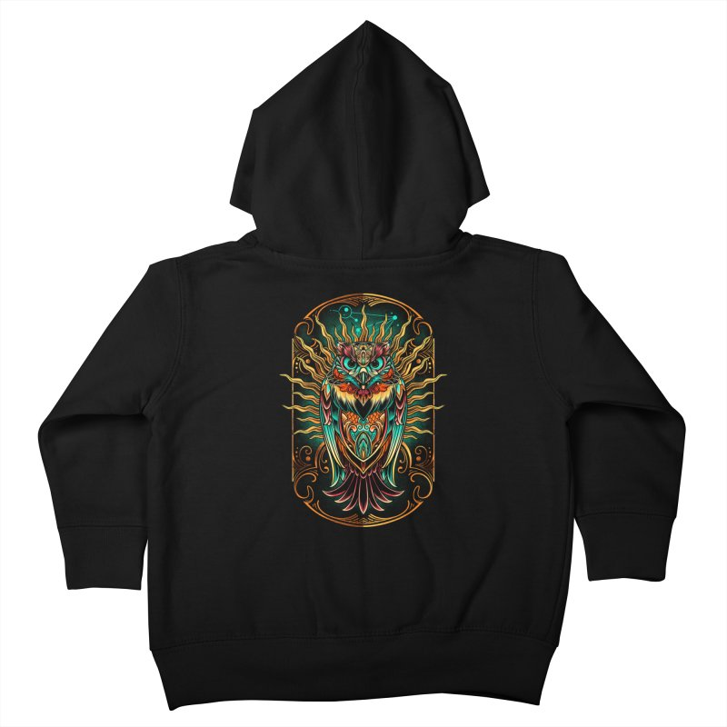 Owl - soulkeeper Kids Toddler Zip-Up Hoody by angoes25's Artist Shop