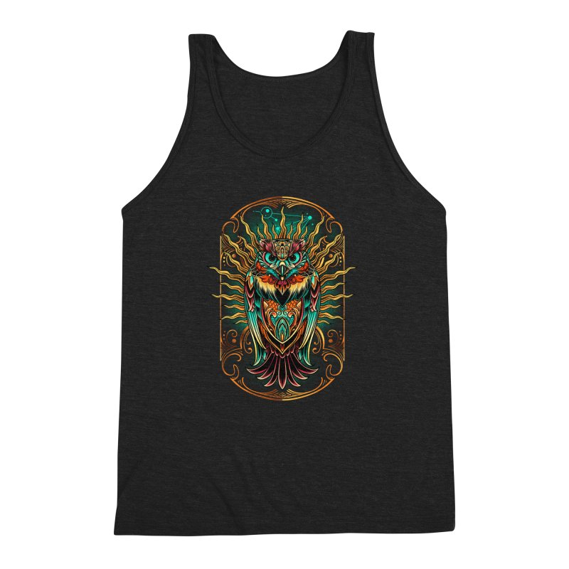 Owl - soulkeeper Men's Triblend Tank by angoes25's Artist Shop