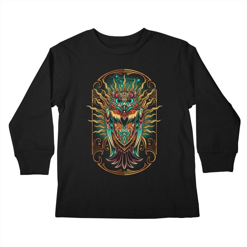 Owl - soulkeeper Kids Longsleeve T-Shirt by angoes25's Artist Shop