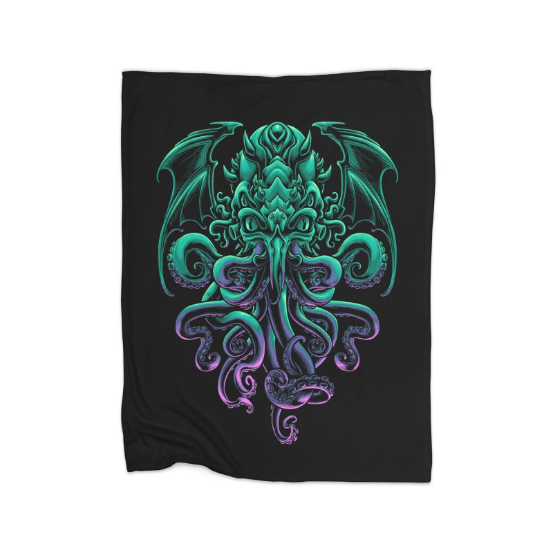 The Old God Of R'lyeh Home Fleece Blanket Blanket by angoes25's Artist Shop