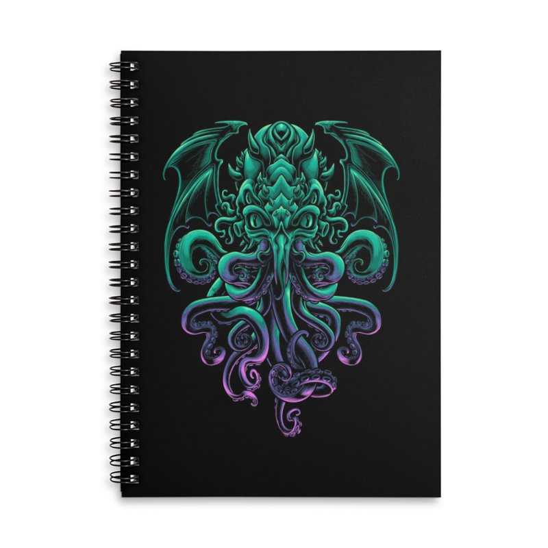 The Old God Of R'lyeh Accessories Lined Spiral Notebook by angoes25's Artist Shop