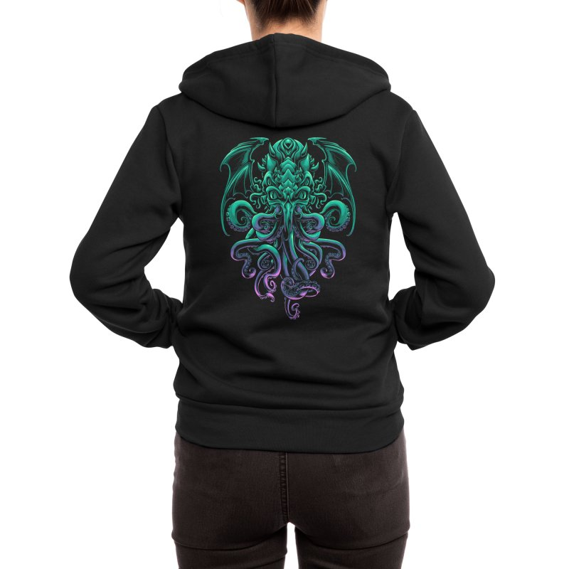 The Old God Of R'lyeh Women's Zip-Up Hoody by angoes25's Artist Shop