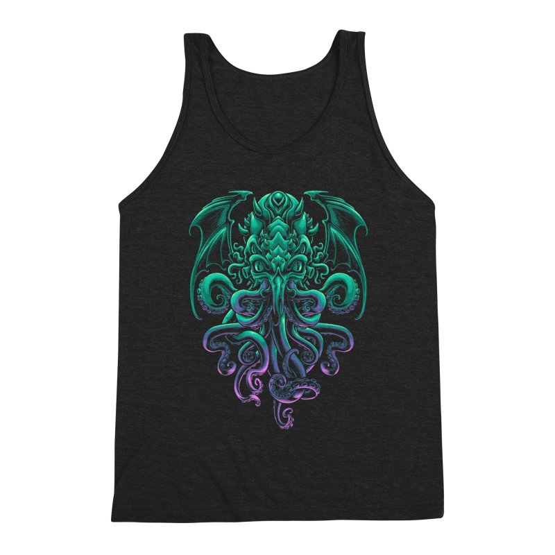 The Old God Of R'lyeh Men's Triblend Tank by angoes25's Artist Shop