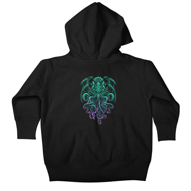 The Old God Of R'lyeh Kids Baby Zip-Up Hoody by angoes25's Artist Shop
