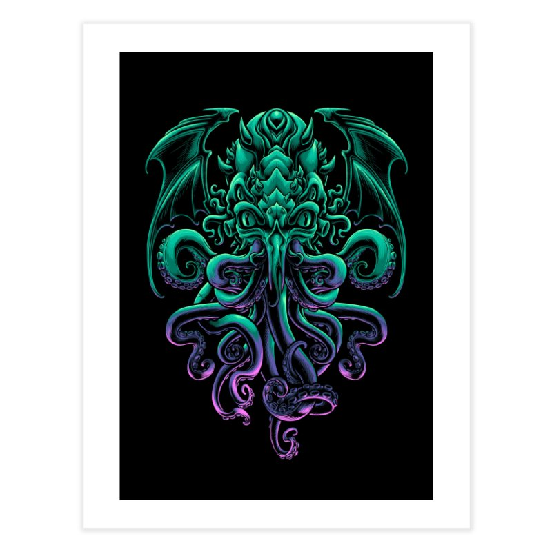 The Old God Of R'lyeh Home Fine Art Print by angoes25's Artist Shop