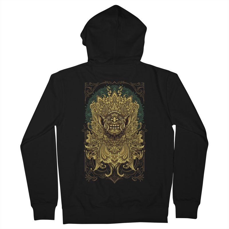 Balinese Barong Men's French Terry Zip-Up Hoody by angoes25's Artist Shop