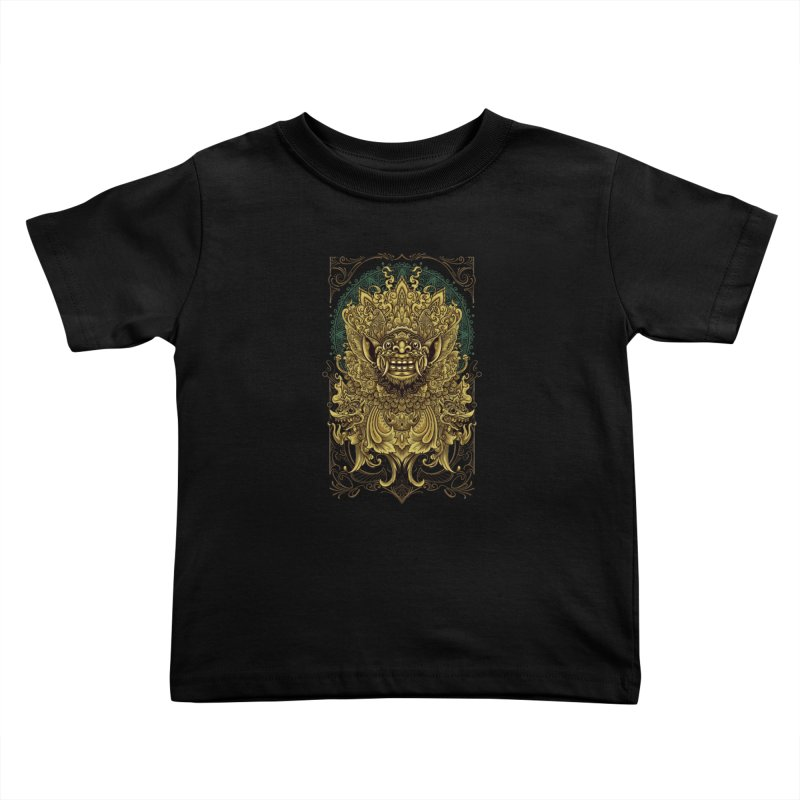 Balinese Barong Kids Toddler T-Shirt by angoes25's Artist Shop