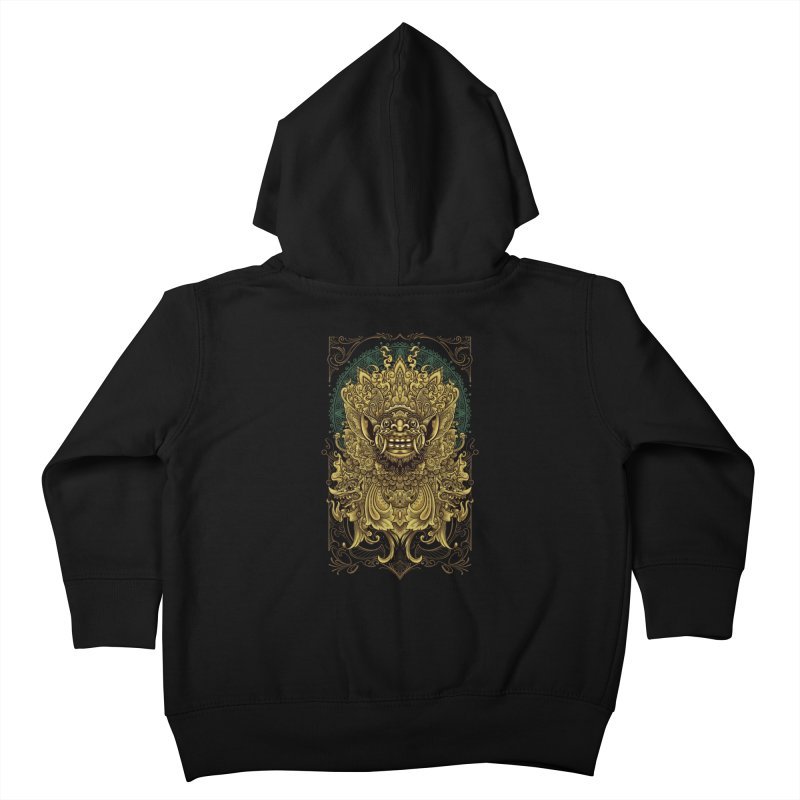Balinese Barong Kids Toddler Zip-Up Hoody by angoes25's Artist Shop