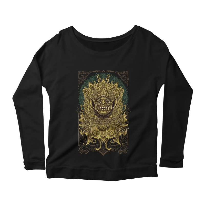 Balinese Barong Women's Scoop Neck Longsleeve T-Shirt by angoes25's Artist Shop