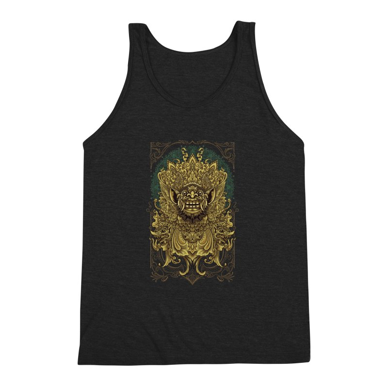 Balinese Barong Men's Triblend Tank by angoes25's Artist Shop