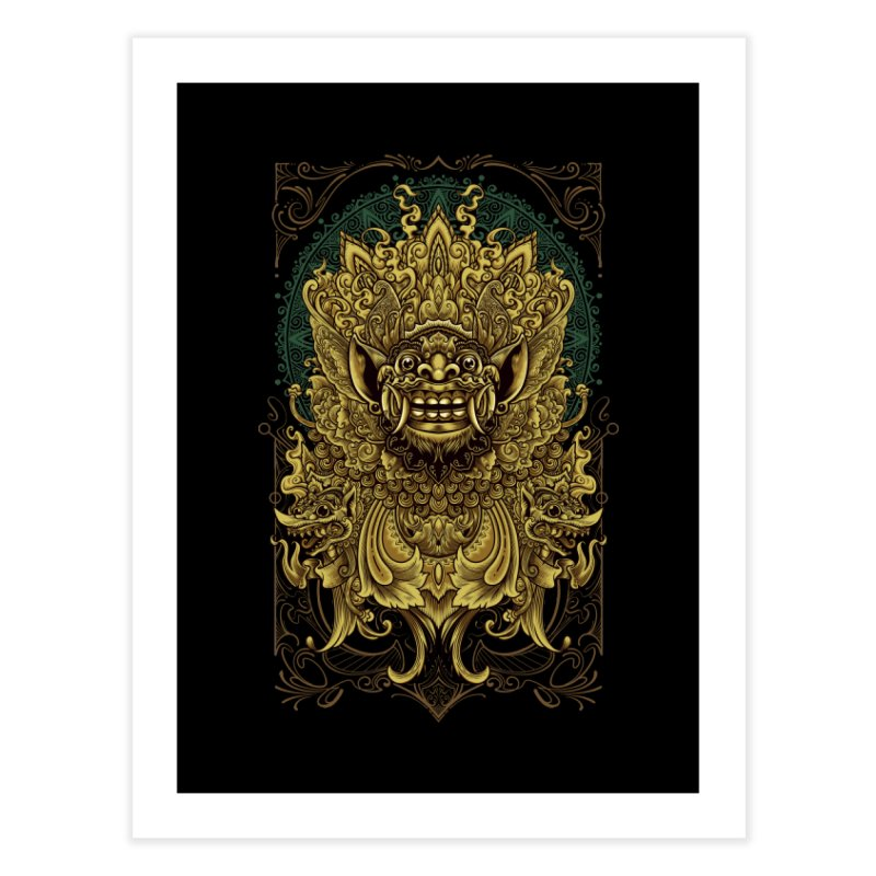 Balinese Barong Home Fine Art Print by angoes25's Artist Shop