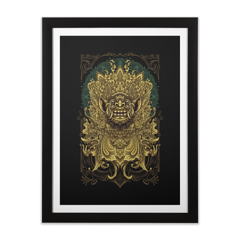 Balinese Barong Home Framed Fine Art Print by angoes25's Artist Shop