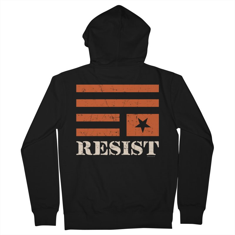 RESIST Men's French Terry Zip-Up Hoody by angryblue's Artist Shop