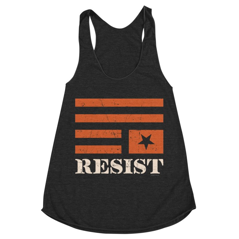 RESIST Women's Racerback Triblend Tank by Angryblue